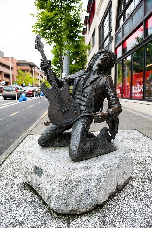 Jimi Hendrix Statue in Seattle