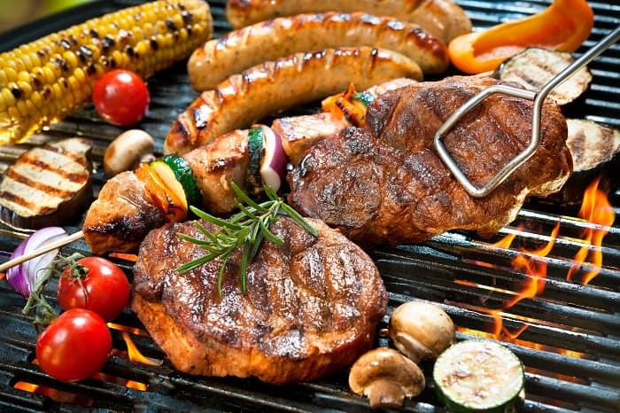 Meat & Veggies on the Barbecue - Traditional 4th of July foods