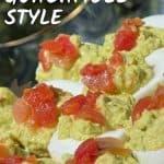 Guacamole Style Deviled Eggs