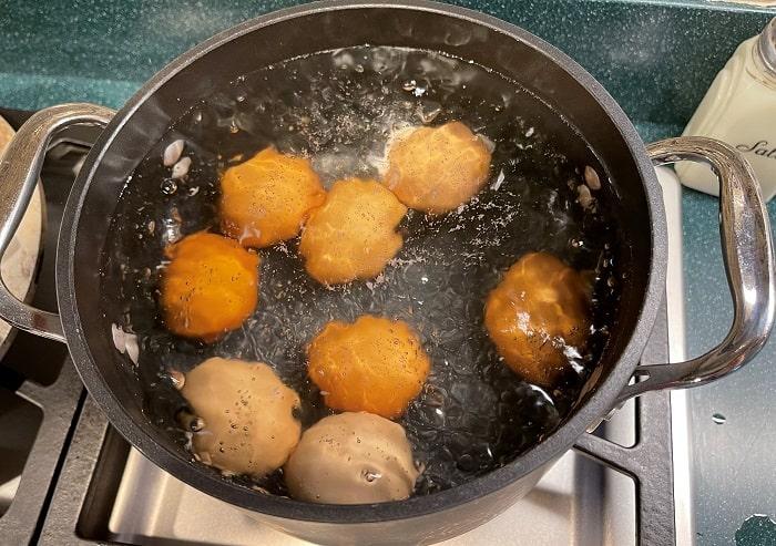 Boiling Eggs for Deviled Eggs