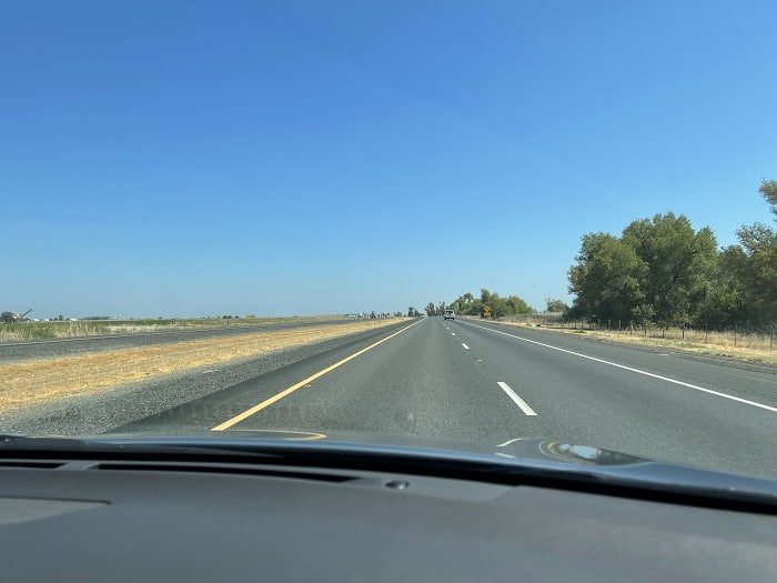 Driving San Francisco to Bend: I-505 Stretches Out In Front Of You