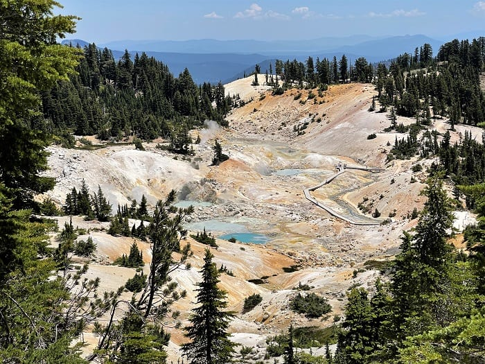 A Stop at Bumpass Hell While Driving San Francisco to Bend