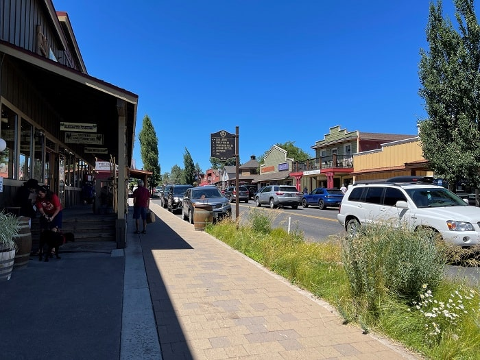 Main Street in Sisters Oregon