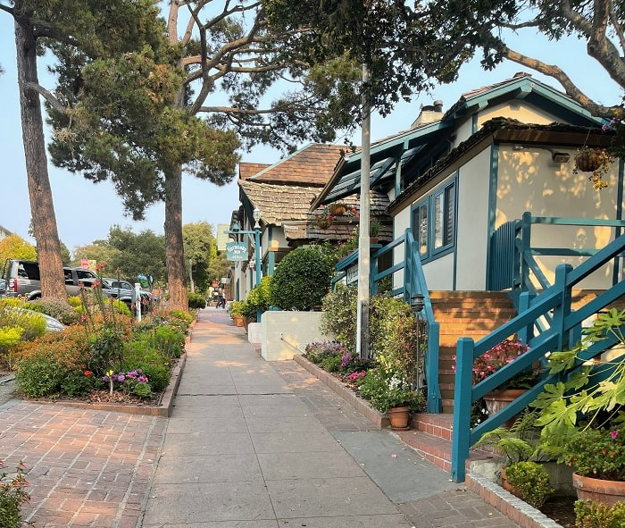 Ocean Avenue in Carmel by the Sea, California