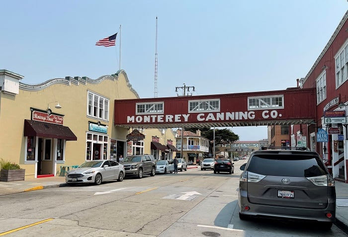 Road Trip on California Highway 1 - Cannery Row in Monterey