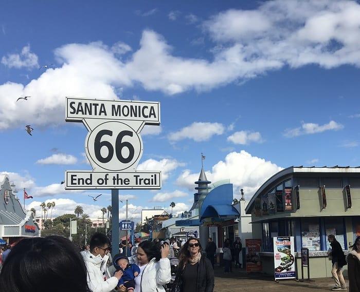 Santa Monica Pier:  Route 66 Los Angeles California